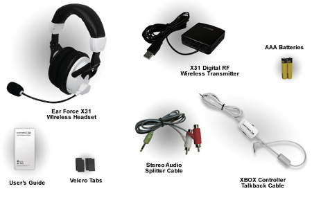 Included Components Ear Force X31